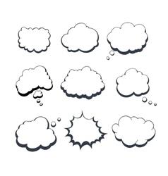 Comic Dream Bubbles vector image
