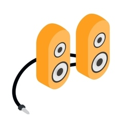 Computer speaker icon cartoon style vector image vector image