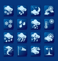 weather button vector image
