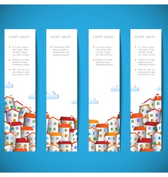 Banners with colorful homes vector image vector image