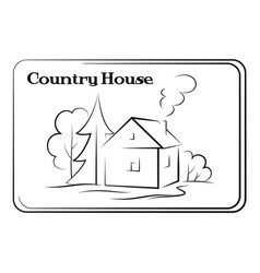 country house pictogram vector image vector image