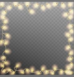 frame with vintage garlands eps 10 vector image vector image
