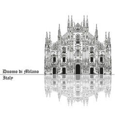 milan cathedral in italy with shadow vector image vector image