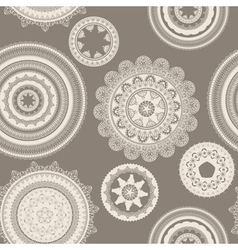 seamless pattern lacy napkins vector image vector image