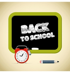 Back to School Title with Chalk - Alarm Clock vector image