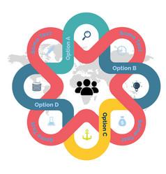 Modern line business design image vector