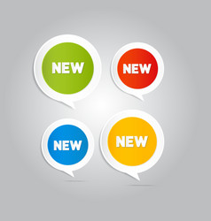 Stickers tags labels with new title vector