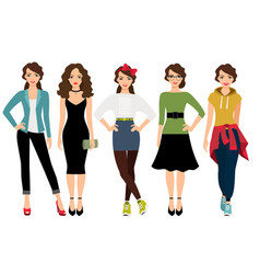 women fashion styles vector image vector image