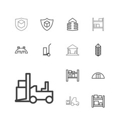 13 warehouse icons vector