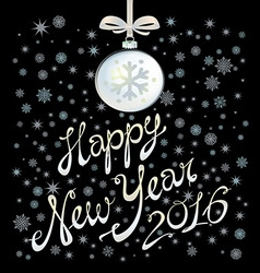 2016 happy new year glowing background eps 10 vector