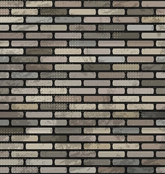 abstract brick wall seamless vector image