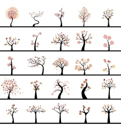 Abstract Cute Trees vector