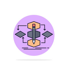 Algorithm design method model process flat color vector