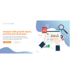 analysis with growth report security vector image