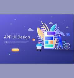app ux ui design concept designers teamwork vector image