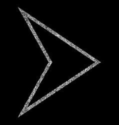 Arrowhead right fabric textured icon vector