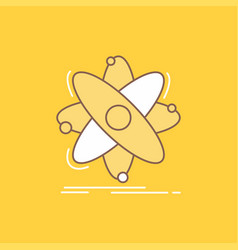 atom science chemistry physics nuclear flat line vector image
