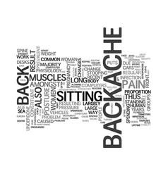 Backache a common problem text word cloud concept vector