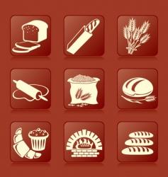 Bread button vector