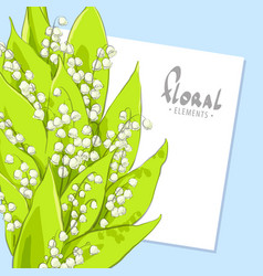 Bright bouquet of lilies vector