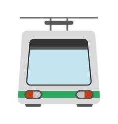 cableway funicular transport icon vector image