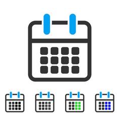 Calendar poster flat icon vector