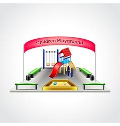 Children playground isolated vector