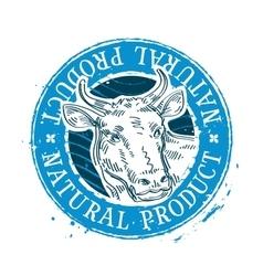 Cow logo design template milk or beef icon vector