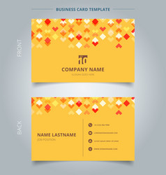 creative business card and name card template red vector image