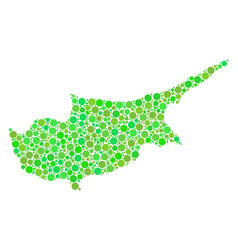 cyprus island map mosaic of dots vector image