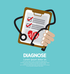 Diagnosis vector image