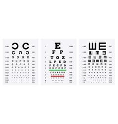 Eye test charts set vector