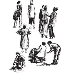 Figures people vector