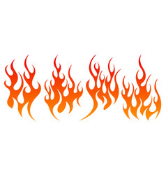 fire design element set vector image