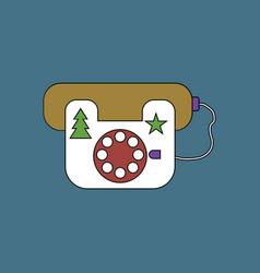 Flat icon design collection landline phone vector