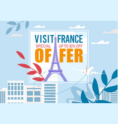 France visit special sale discount offer advert vector