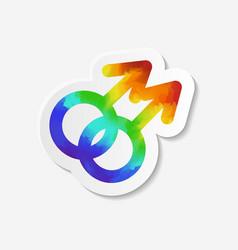 Gender identity icon Gay symbol vector image