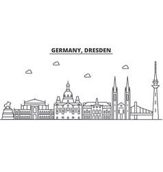 Germany dresden architecture line skyline vector