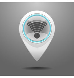 Glossy WiFi Icon vector image