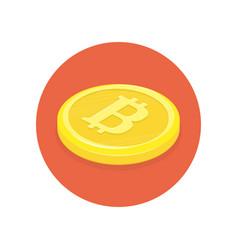 golden bitcoins icon vector image