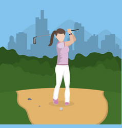 Golf player cartoon vector