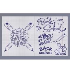 Graffiti pen in a notebook vector
