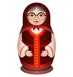 grandmother in national clothes russian wooden vector image