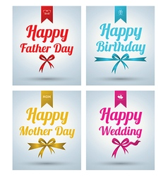 Happy Father Day Mother day Wedding Birth vector