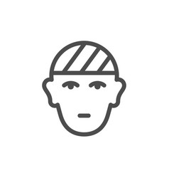Head injury line icon vector