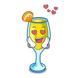 In love mimosa mascot cartoon style vector
