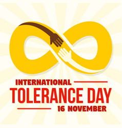 Infinite tolerance day concept background flat vector