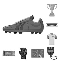 isolated object of soccer and gear sign vector image