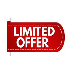 limited offer banner design vector image