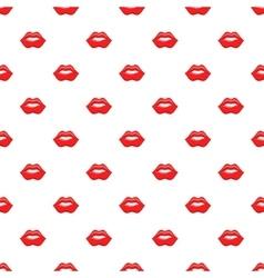 Lips pattern cartoon style vector